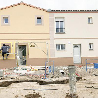 Visite de chantier à Salles d'Aude