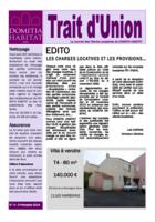 Trait d'Union n°4 - Janvier 2014