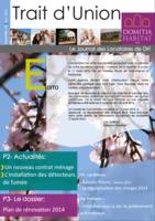 Trait d'Union n°8 - Avril 2015